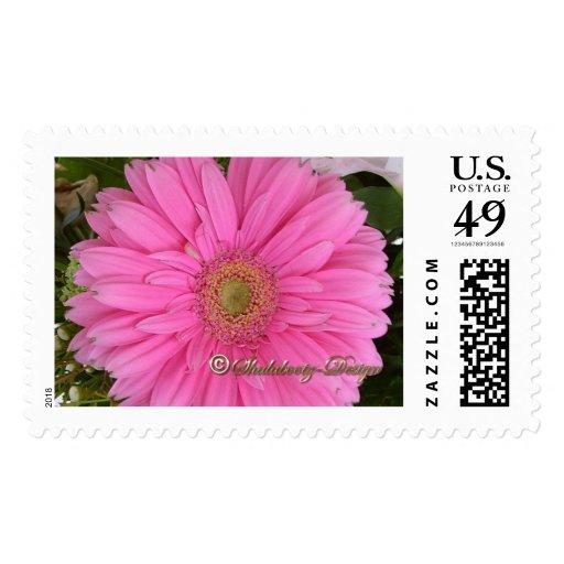 Hot Pink Flower Photo Stamp