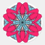 Hot Pink Flower Sticker