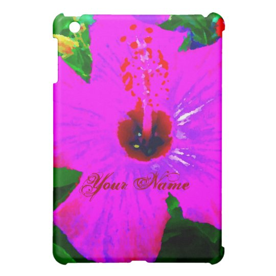 Hot Pink Flower Tropical Vacation Pop Art Graphic iPad Mini Cover