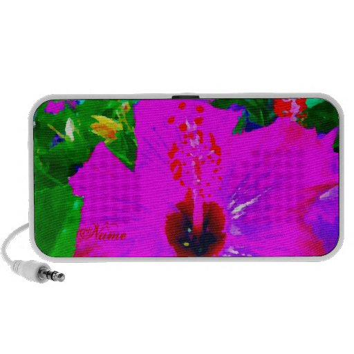 Hot Pink Flower Tropical Vacation Pop Art Graphic Travelling Speaker