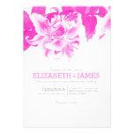 Hot Pink Flower Wedding Invitations Custom Invitation