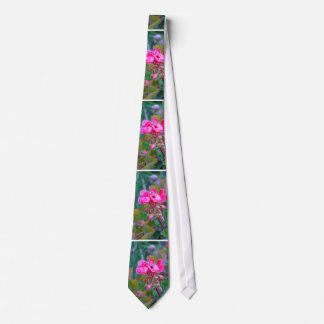 Hot pink flowers beautiful colorful garden photo tie