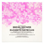 Hot Pink Flowers Bridal Shower Invitations Personalized Announcement