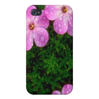 Hot Pink Flowers iPhone 4/4S Cases