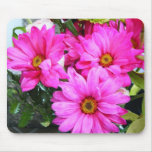 Hot Pink Flowers Mouse Pads