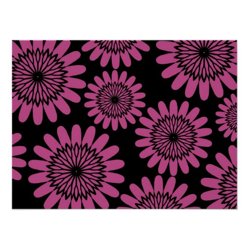 Hot Pink Flowers Posters