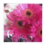 Hot Pink Flowers Tiles