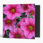 Hot Pink Flowers Vinyl Binders