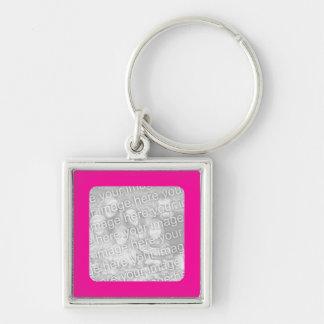 Hot Pink Frame Keychain