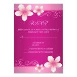 Hot Pink Frangipani Sweet16 RSVP Card Custom Invitation