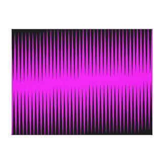 Hot Pink Frequency Canvas Print
