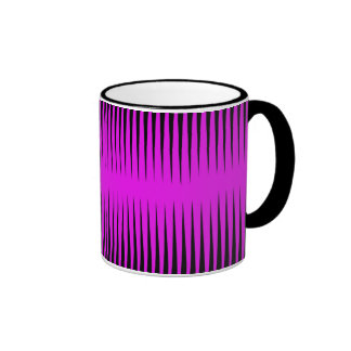 Hot Pink Frequency Pattern Ringer Coffee Mug