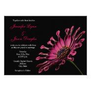 Hot Pink Fuchsia African Daisy Wedding Invitations