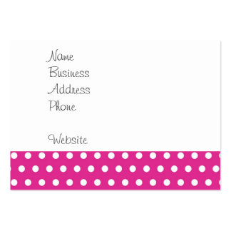 Hot Pink Fuchsia and White Polka Dots Pattern Gift Business Card Templates