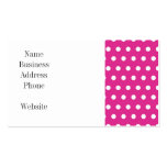 Hot Pink Fuchsia and White Polka Dots Pattern Gift Double-Sided Standard Business Cards (Pack Of 100)