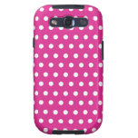 Hot Pink Fuchsia and White Polka Dots Pattern Gift Galaxy SIII Cases