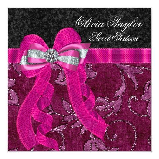 Hot Pink Fuchsia Birthday Party Card