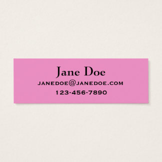 Hot Pink Fuchsia Business Cards to Customize