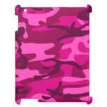Hot Pink Fuchsia Camo Camouflage Girly Pattern iPad Case