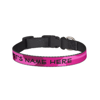 Hot Pink Fuchsia Camo Camouflage Girly Pattern Pet Collar
