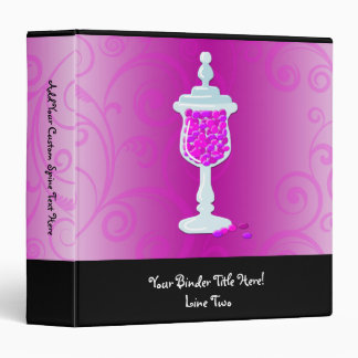 Hot Pink Fuchsia Candy Buffet 3 Ring Binder