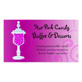 Hot Pink Fuchsia Candy Buffet Business Card