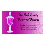Hot Pink Fuchsia Candy Buffet Business Card Template
