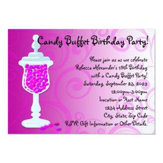 Hot Pink Fuchsia Candy Buffet Card