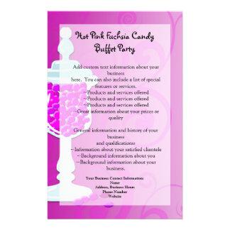 Hot Pink Fuchsia Candy Buffet Flyer