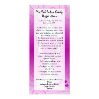 Hot Pink Fuchsia Candy Buffet Rack Card Template