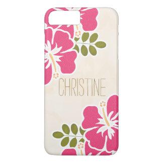 HOT PINK FUCHSIA HIBISCUS iPhone 8 PLUS/7 PLUS CASE