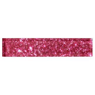 hot pink fuchsia tiny sequin glitter nameplate