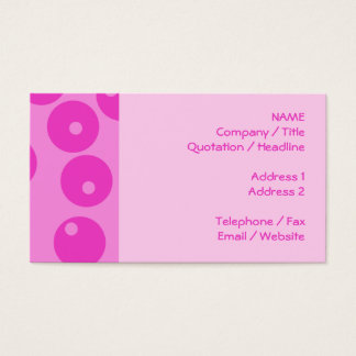 Hot Pink Funky Retro Pattern. Business Card