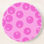 Hot Pink Funky Retro Pattern. Coasters