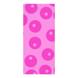 Hot Pink Funky Retro Pattern. Custom Rack Cards