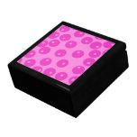 Hot Pink Funky Retro Pattern. Jewelry Box