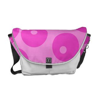 Hot Pink Funky Retro Pattern. Messenger Bags