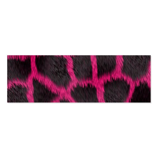 Hot Pink Furry Giraffe Double-Sided Mini Business Cards (Pack Of 20)