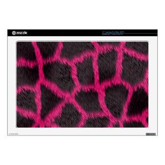 Hot Pink Furry Giraffe Decal For Laptop