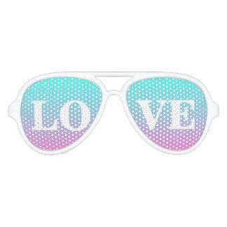 hot pink Fuschia turquoise ombre wedding favor Aviator Sunglasses