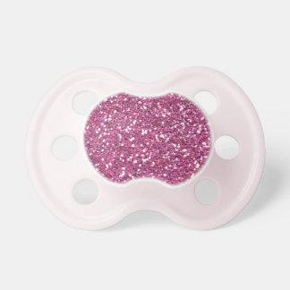 Hot Pink Fushia Glitter Print Pacifiers