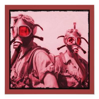 Hot Pink Gas Masks Card