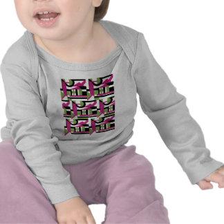 Hot Pink Geo Deco T-shirts