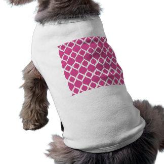 Hot Pink Geometric Ikat Tribal Print Pattern Doggie T Shirt
