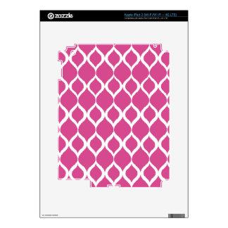 Hot Pink Geometric Ikat Tribal Print Pattern iPad 3 Decal