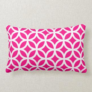 Hot Pink Geometric Lumbar Pillow