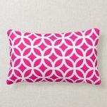 Hot Pink Geometric Pillows