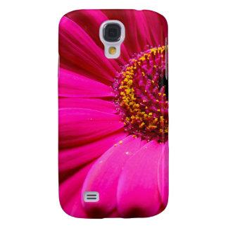 hot pink gerber daisy galaxy s4 cases