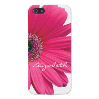 Hot Pink Gerber Gerbera Daisy Personalize iPhone SE/5/5s Case