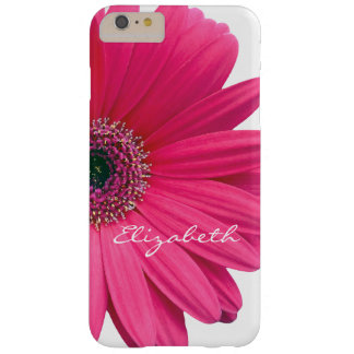 Hot Pink Gerber Gerbera Daisy Personalized Barely There iPhone 6 Plus Case